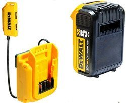 DeWalt-DCB090-USB-Power-Source-with-Dewalt-Lithium-ion-20V-Battery