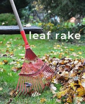 leaf rake leaf removal tools for gathering leaves and debris from lawn