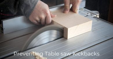 preventing table saw kickbacks