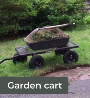 garden cart or wheelbarrow for carrying leaves