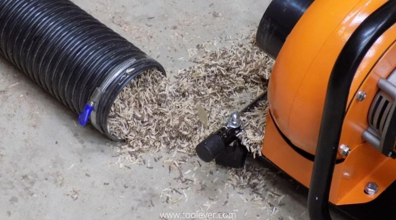 sawdust from dust extractor